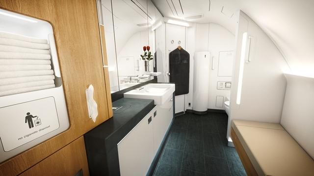 Lufthansa First Class Badezimmer