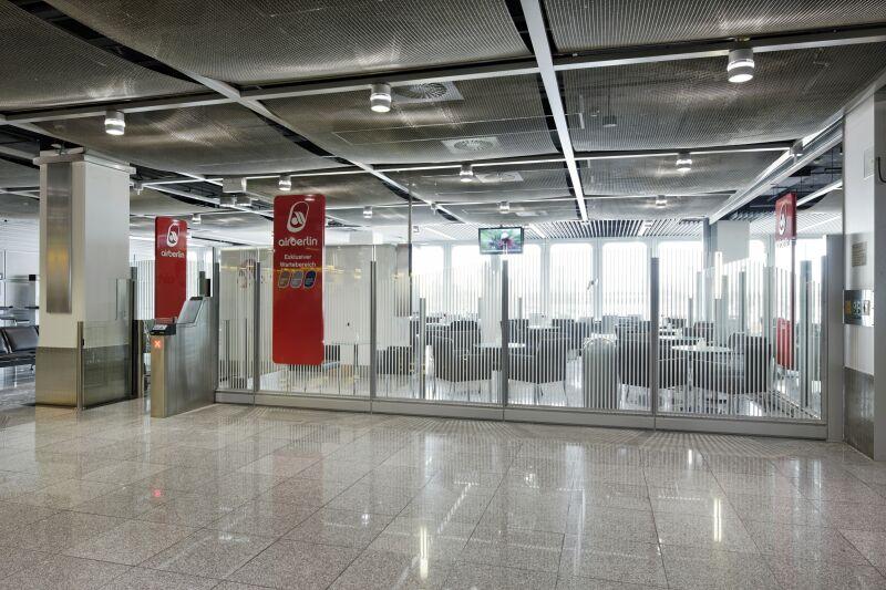 Airberlin exklusiver Wartebereich Düsseldorf