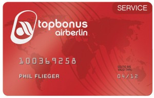 air berlin topbonus Service Card