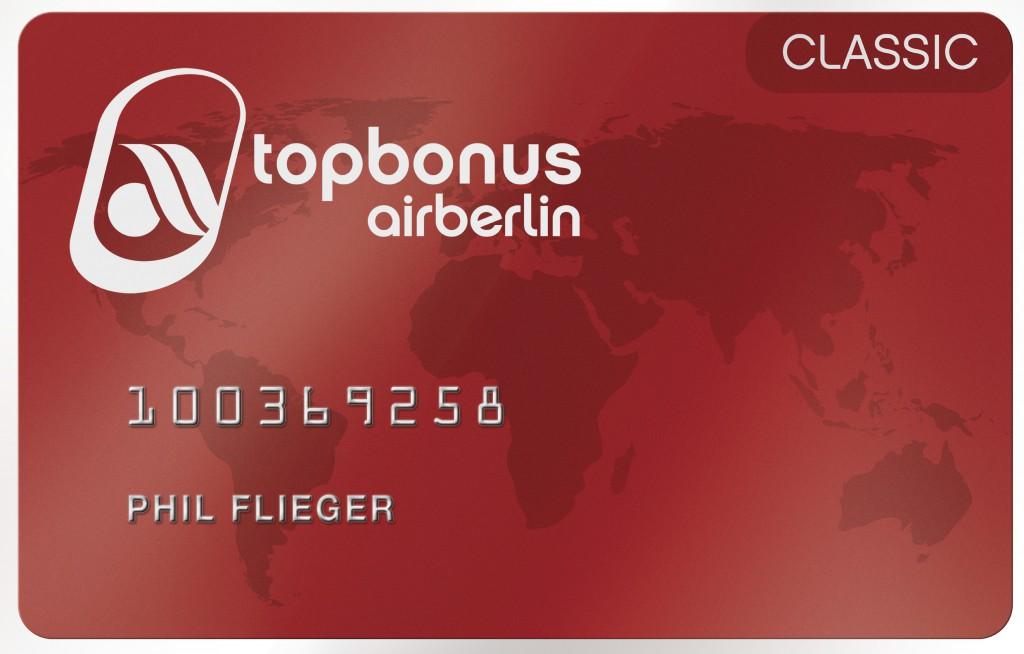 air berlin topbonus classic card