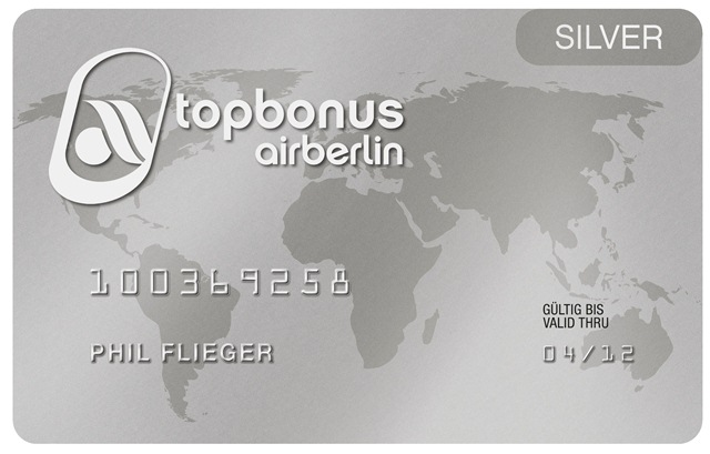 air berlin topbonus silver card