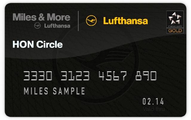 Miles & More HON Karte, Quelle: Lufthansa