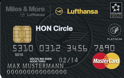 HON Circle Kreditkarte, Quelle: Lufthansa