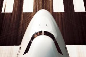 Nase einer Lufthansa 747-8