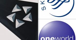 Logos der drei größten Luftfahrt-Allianzen Foto: Vielflieger-Lounges
