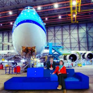 Die Designerin der neuen Business Class Hella JongeriusQuelle: KLM