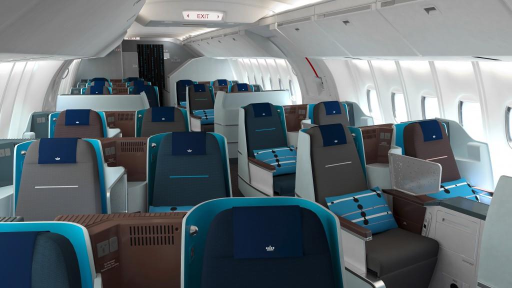 Die neue KLM Business Class KabineQuelle: KLM