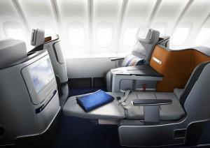 Lufthansa Business Class, Kabine 2012, 747-