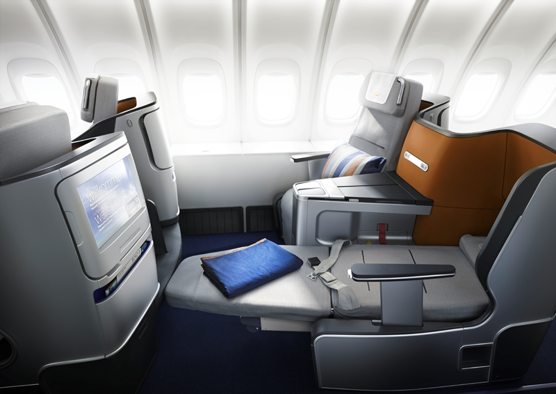 Kostenfreies Upgrade in die Business Class mit eVoucher/ Quelle: Lufthansa