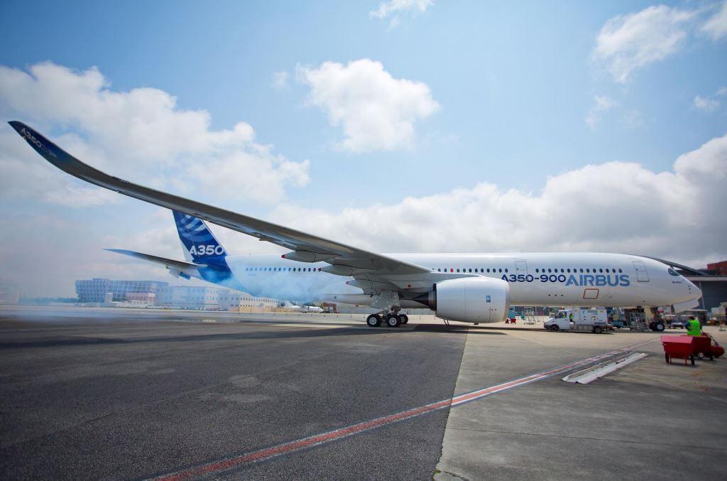 Die A350 bereit zum Jungfernflug
