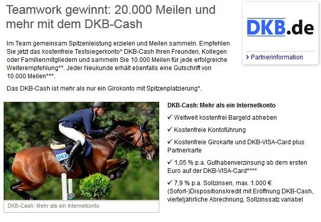 Bis zu 60.000 Meilen bei de DKB BankQuelle: Miles & More