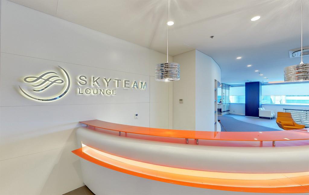 Rezeption der neuen SkyTeam Lounge am Flughafen AtatürkQuelle: SkyTeam