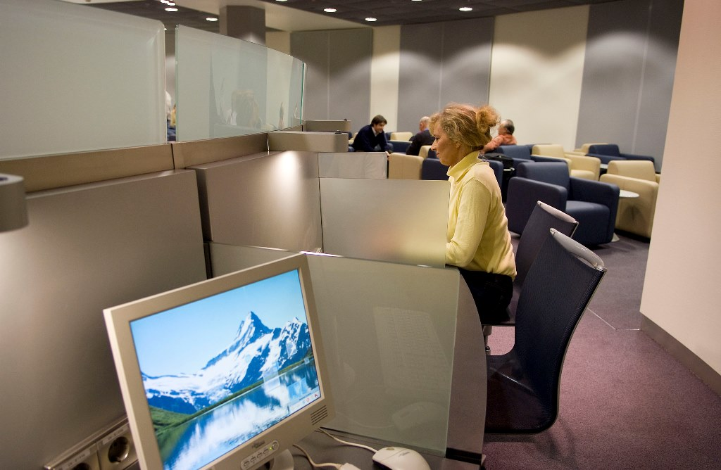 Arbeitsbereich SEN Lounge Köln Foto: Lufthansa