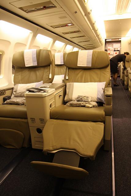 Dieser Sitz der Premium Economy Class von Open Skies kommt an so manche alte Business Class heran Foto: TravellingOtter