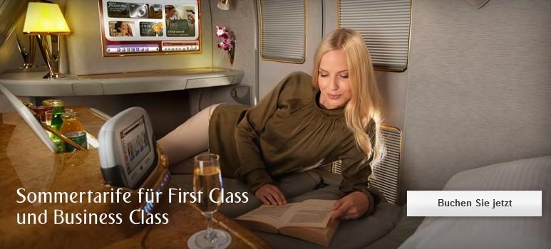 Sommertarife Emirates