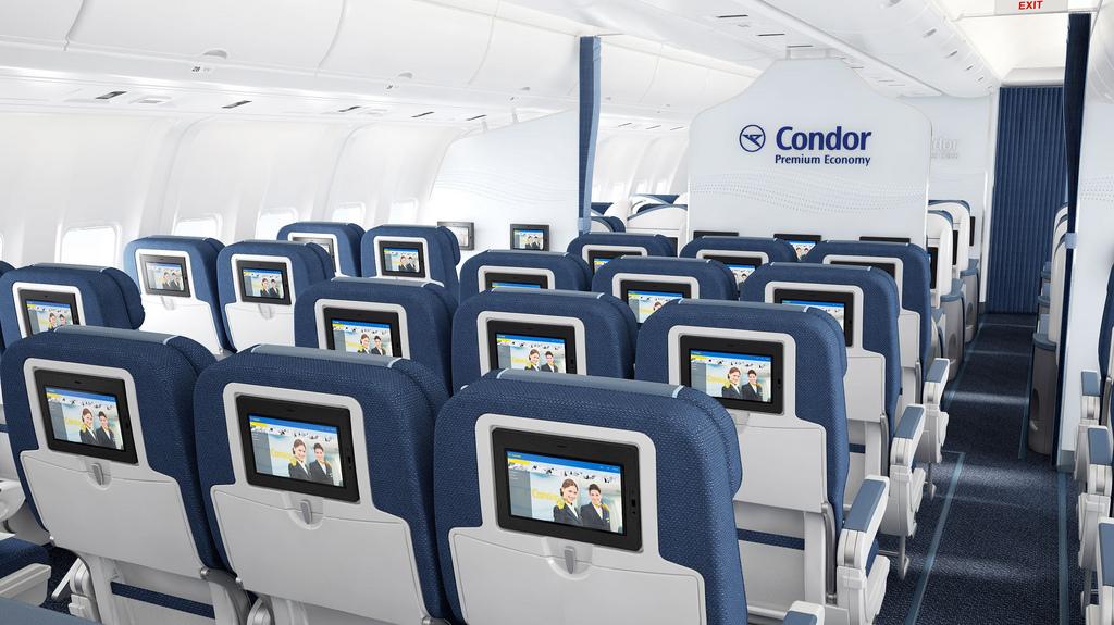 Die Premium Economy Class von Condor Foto: Condor