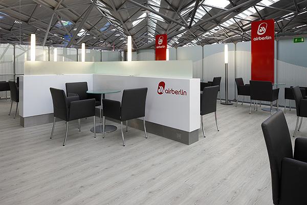 Wartebereich der Airberlin am Flughafen Köln/Bonn Foto: Projectfloor