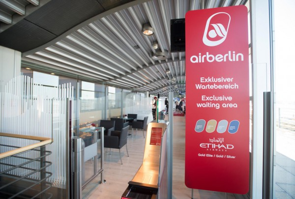 Exklusiver Wartebereich in Hamburg Foto: Airberlin