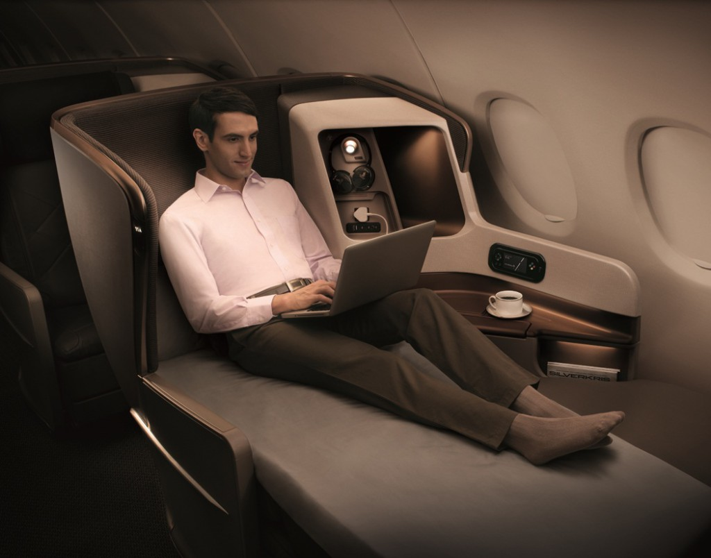 WiFi an Bord der Business Class der Singapore Airlines Foto: Singapore Airlines