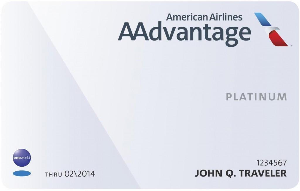 AAdvantage Platinumkarte Foto: oneworld