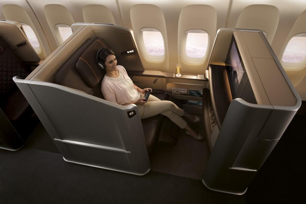Der neue noch breitere First Class Sitz der SIA