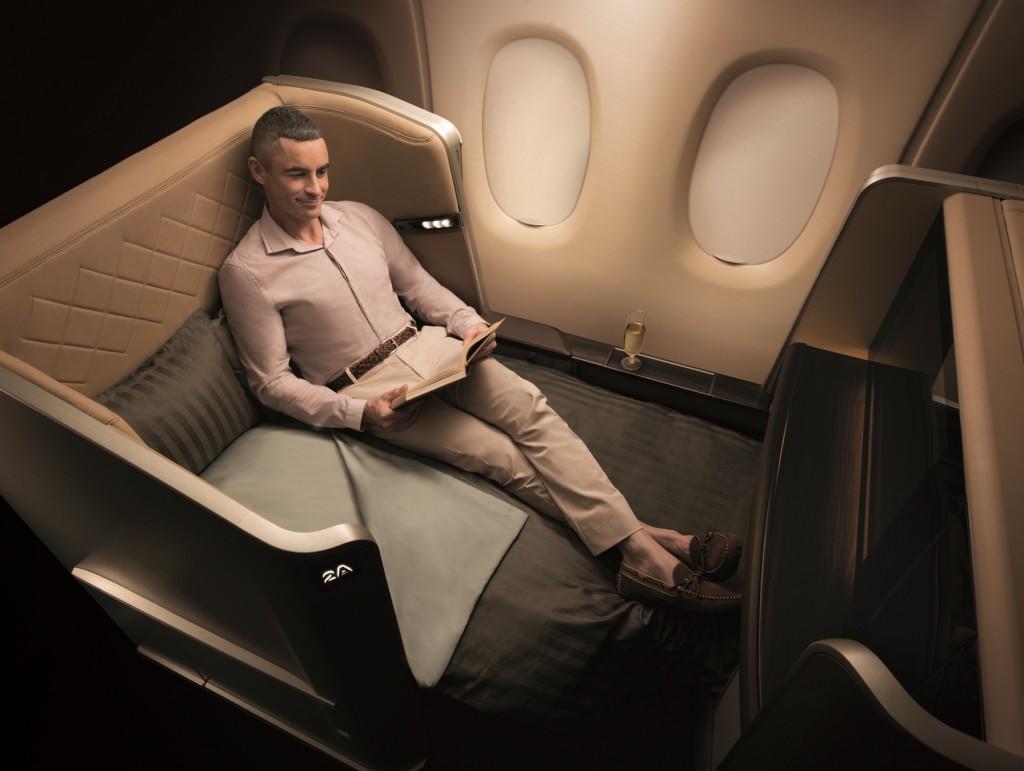 Noch größerer Bildschirm und eine verbesserte Matrate sorgen für otimales Arbeiten oder Entspannen Foto: Singapore Airlines