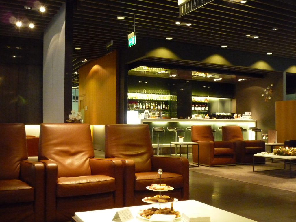 Lufthansa First Class Lounge Flughafen München. Foto: NewbieRunner