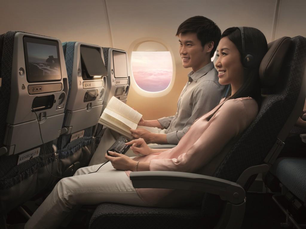 Bordunterhaltung mit größerem Bildschirm und extra USB Anschlüssen Foto: Singapore Airlines