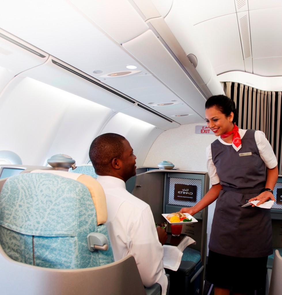 Aktuelle Business Class von Etihad. Diesselben Sitze wurden auch bei airberlin verbaut Foto: Etihad Airways