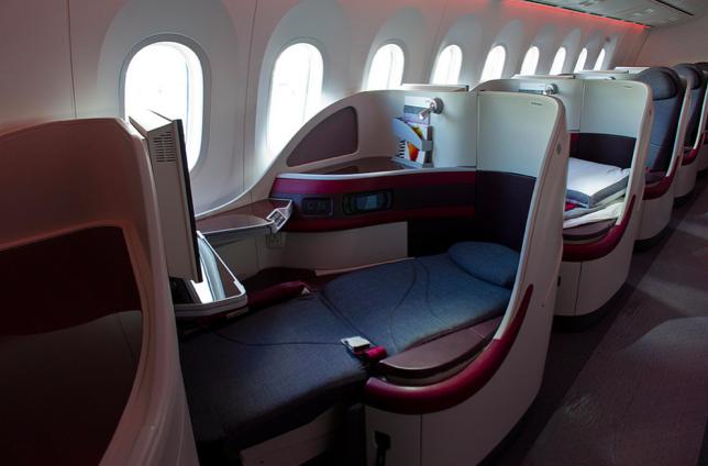 Neuester Business Class Sitz von Qatar Airways Foto: Qatar Airways