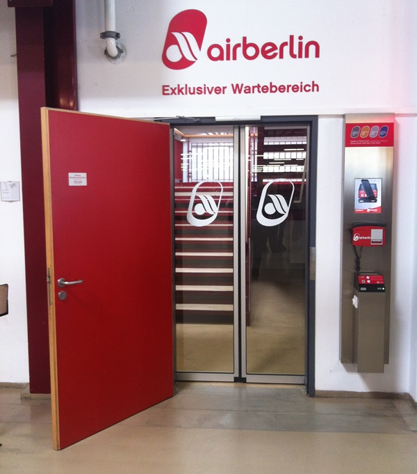 airberlin exklusiver Wartebereich Berlin-Tegel (Terminal A) Foto: airberlin