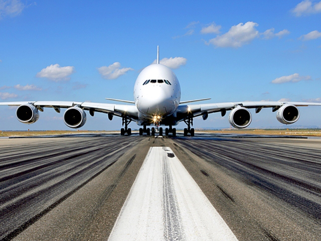 A380 am Boden
