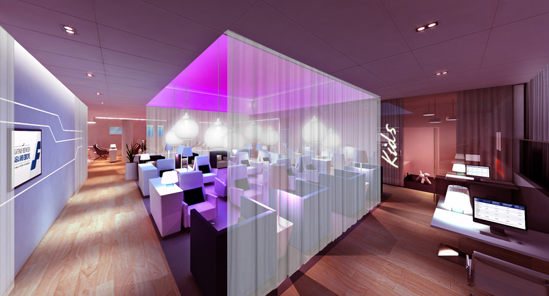 Finnair Premium Lounge Arbeitsplätze Foto: Finnair