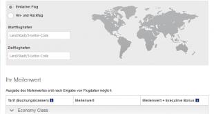 Lufthansa Meilenrechner