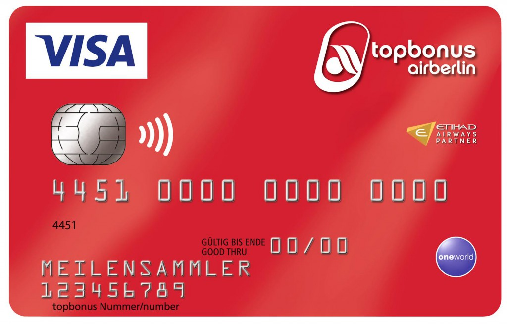 "airberlin Visa Card classic ""basic"" Foto: airberlin"
