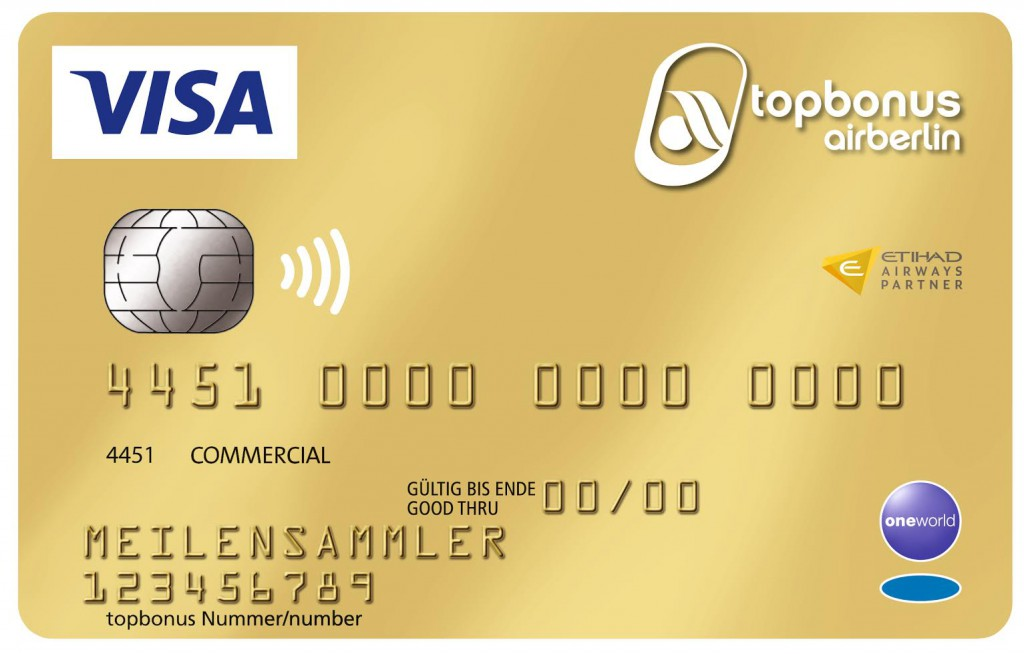"airberlin Visa Card Gold ""commercial"" Foto: airberlin"