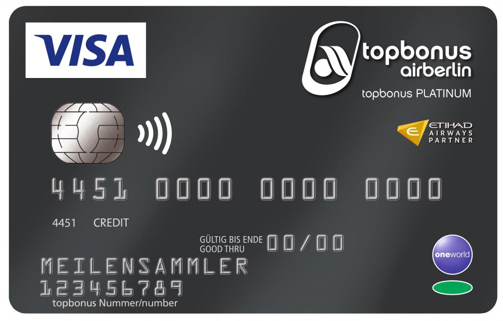 "airberlin Visa Card platinum ""plus"""