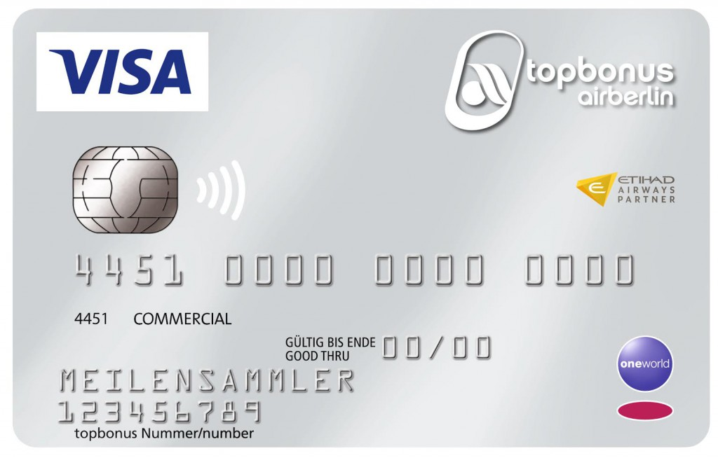 "airberlin visa card silver ""commercial"" Foto: airberlin"