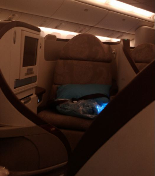 Foto: Turkish Airlines 77W business class seat Darren Foreman