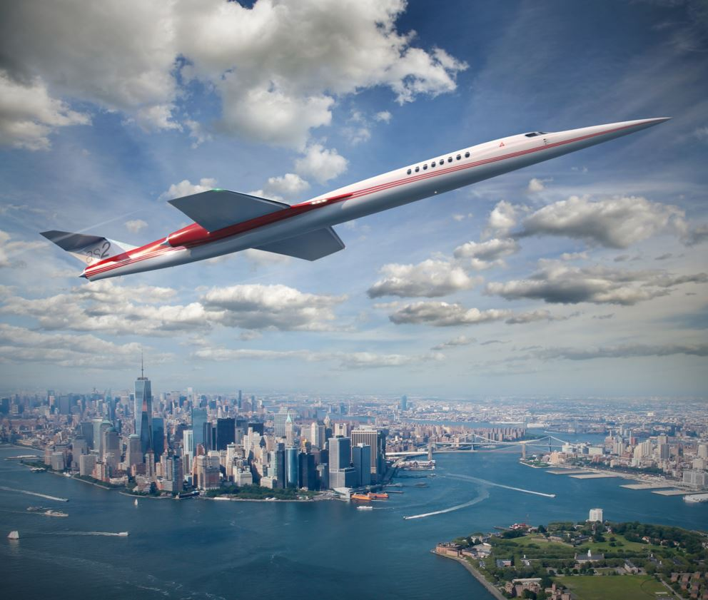 Aerion AS2 über New York Foto: Aerion Corporation