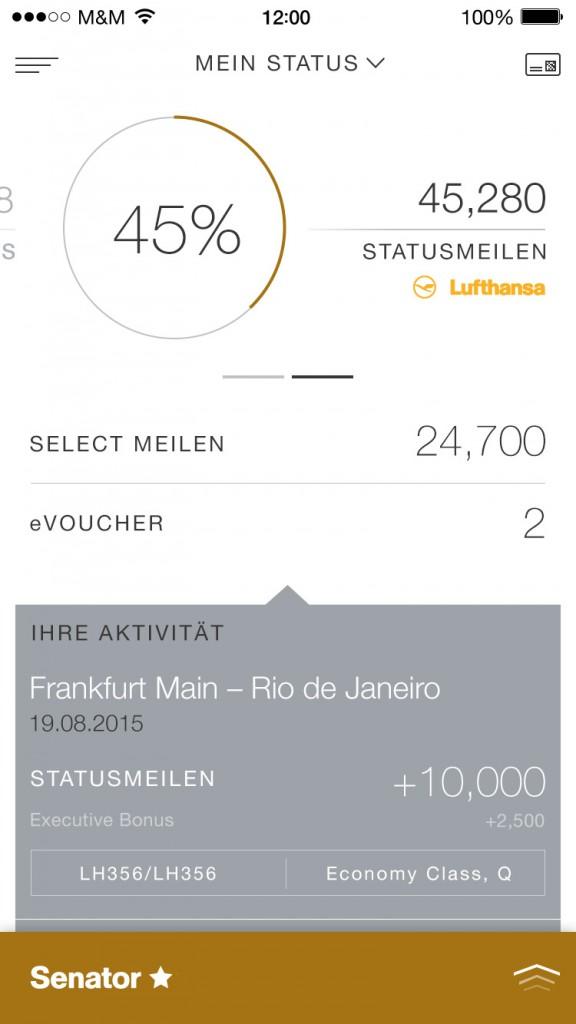 Account Statement in der App: Der neue digitale Auftritt von Miles & More bietet Teilnehmern verstärkt personalisierte Angebote (© Miles & More GmbH)