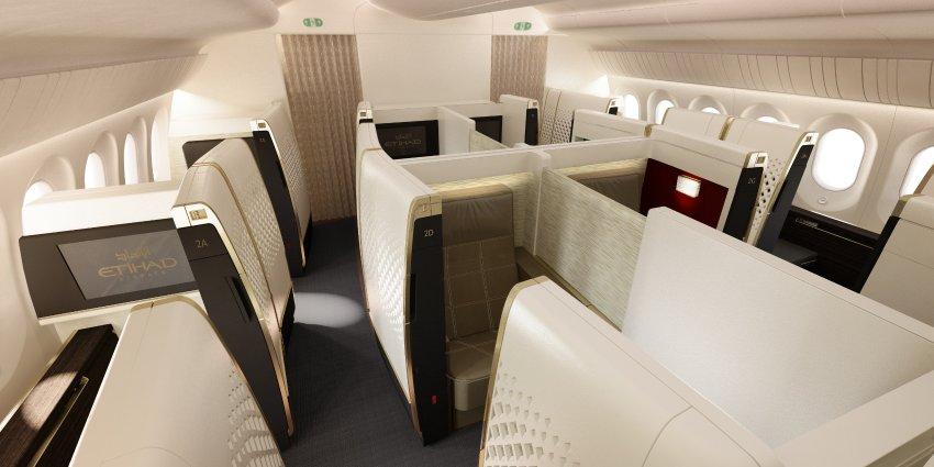Crystal Cabin Award 2016 / Finalisten 2016 / Luftfahrtbranche / Wettbewerb für Flugzeuginnenausstattung / Kabine / Flugzeugsitze // Cabin Concepts // Etihad Airways / Etihad B787 First Class Suites
