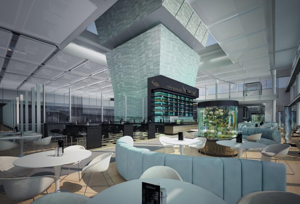 Seafood Bubbles & Wine Bar im Vorfeldtower Foto: Flughafen München
