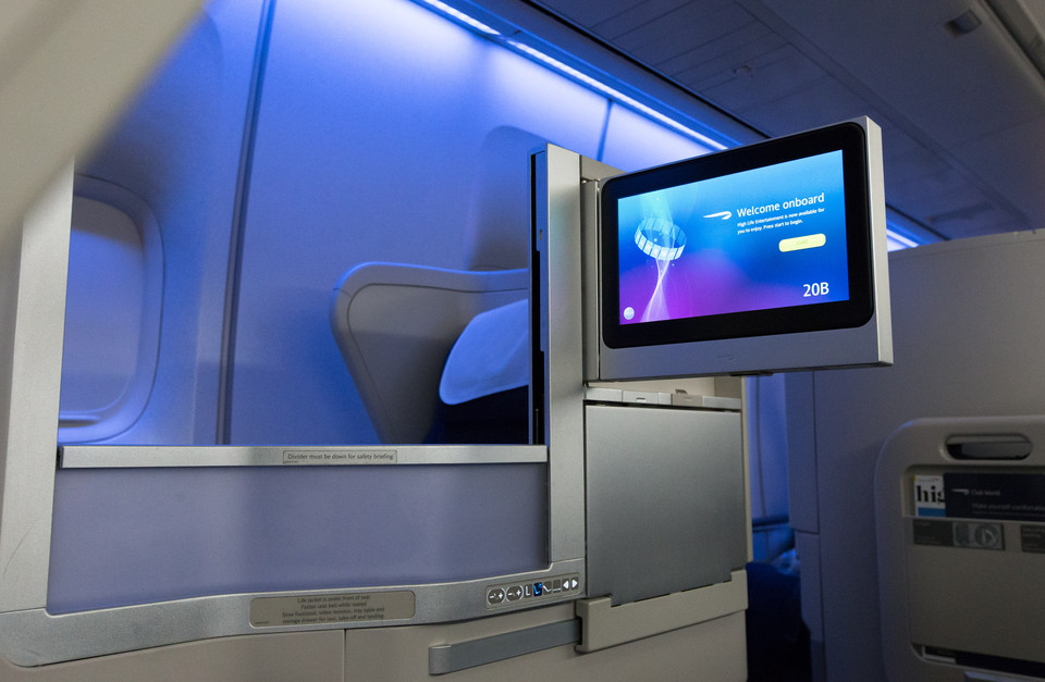 Club World in B747, Quelle: British Airways