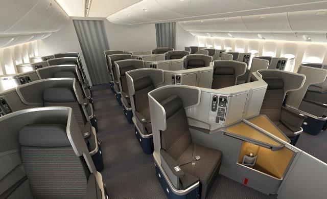 Business Class einer 777-300ER, Quelle: AAdvantage