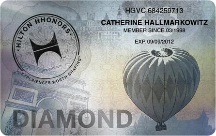 Hilton HHonors Diamond Card, Quelle: HHonors Media Center