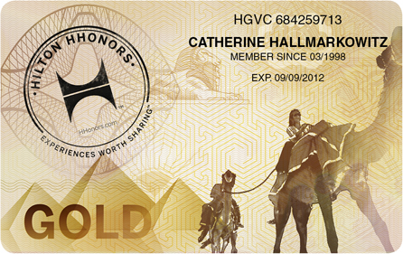 Hilton HHonors Gold Card, Quelle: HHonors Media Center