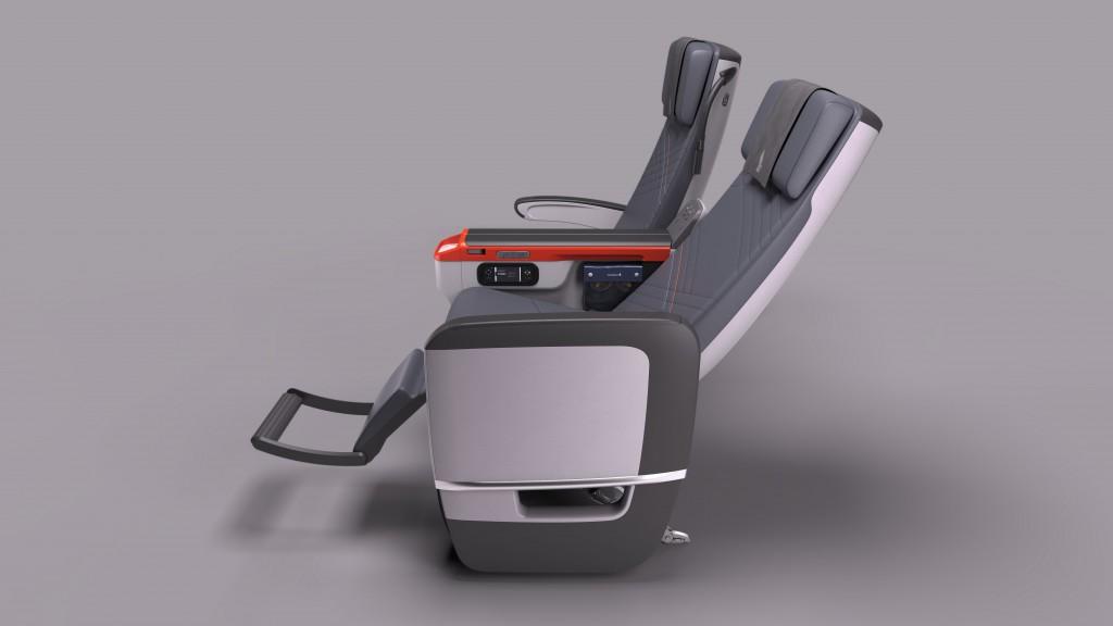 Die Sitze der Premium Economy Class