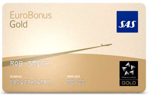 EuroBonus Gold, Quelle: SAS EuroBonus
