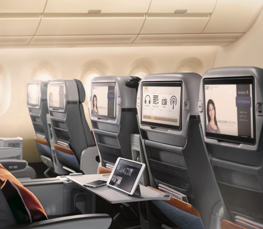 Sitze der Premium Economy Class, Quelle: Singapore Airlines
